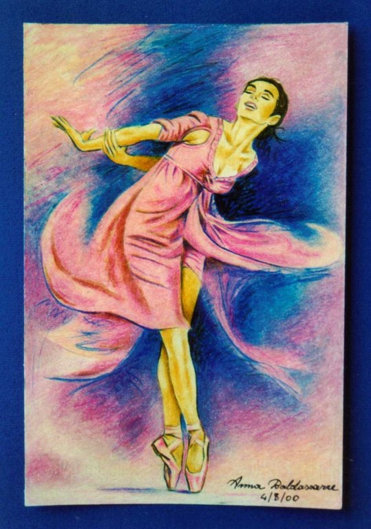 Dancer Pastello su carta 14x20cm.