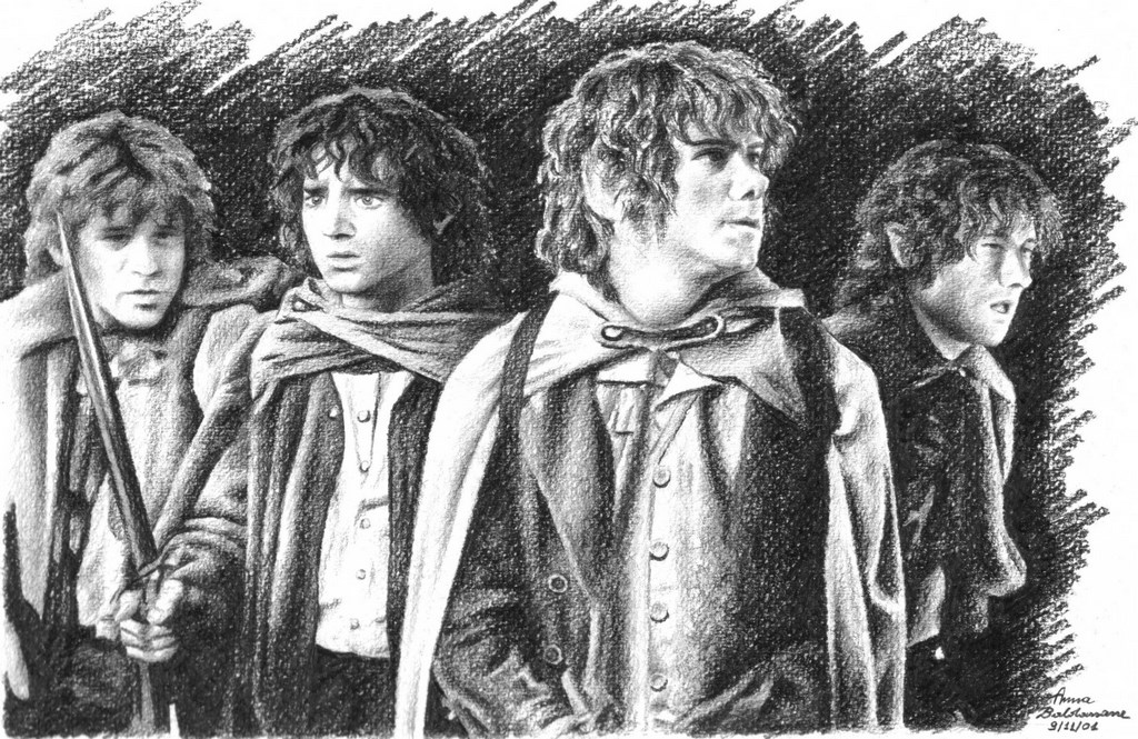 The Hobbits Matita su carta 33x24cm.