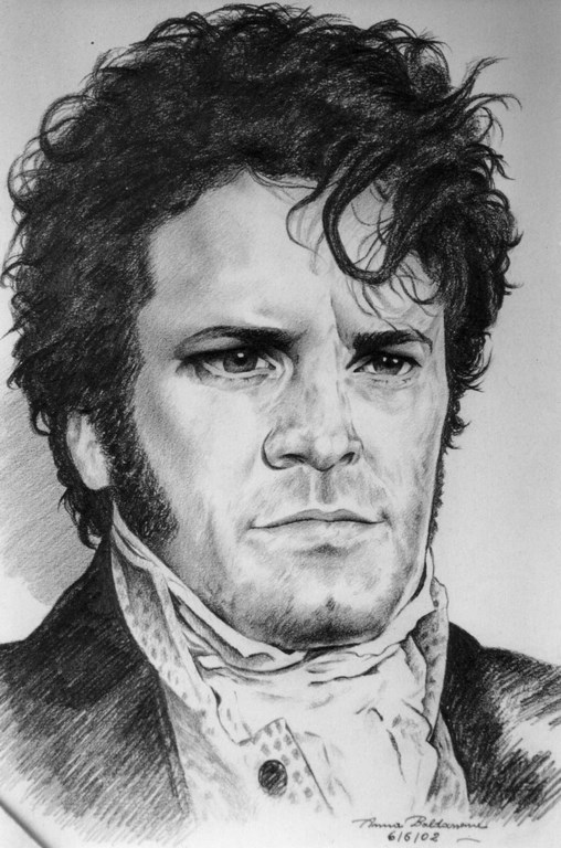 Colin as Darcy Matita su carta 33x24cm.
