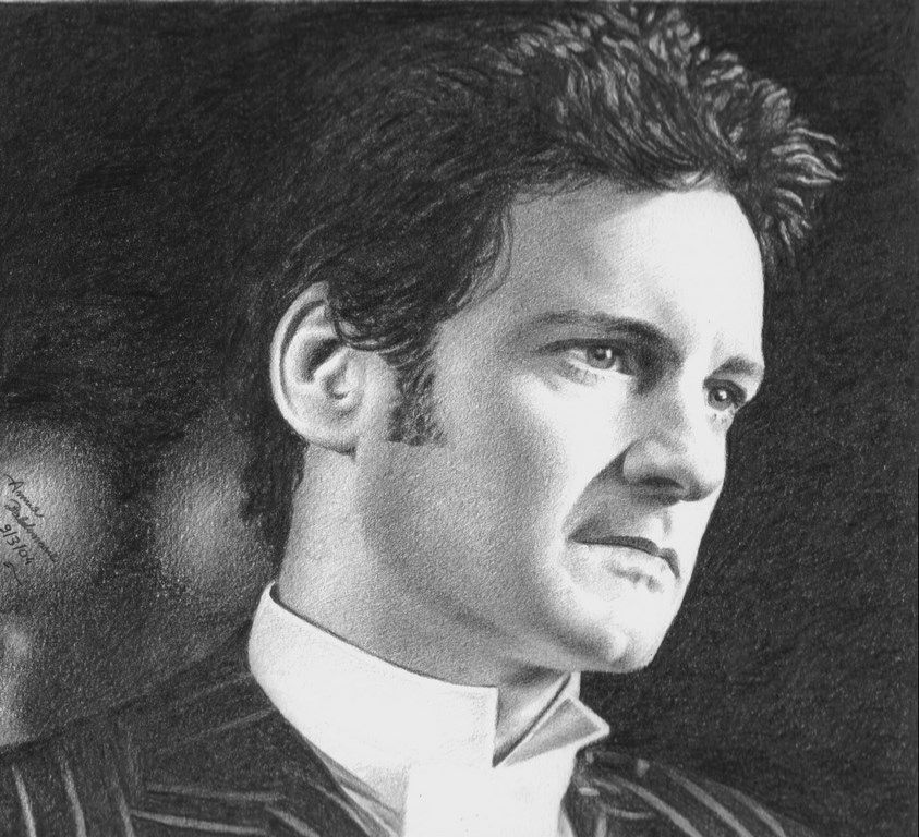 Colin as Mark Darcy 2 matita su carta 33x24cm.