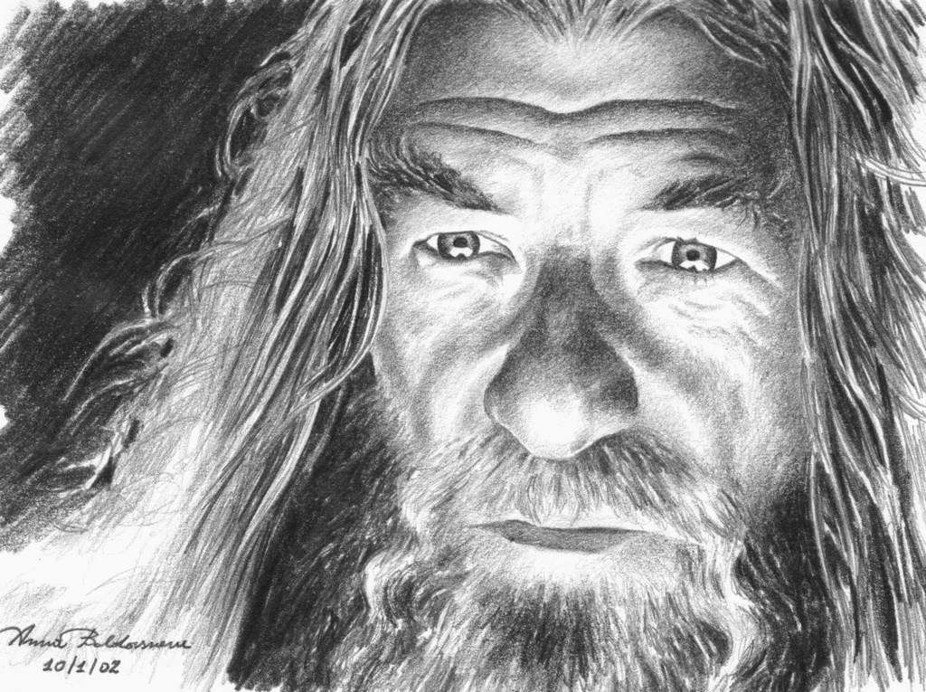 Ian McKellen as Gandalf Matita su carta 16x22cm.