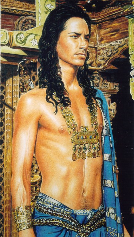 Keanu as Siddhartha Pastello su carta 33x48cm.