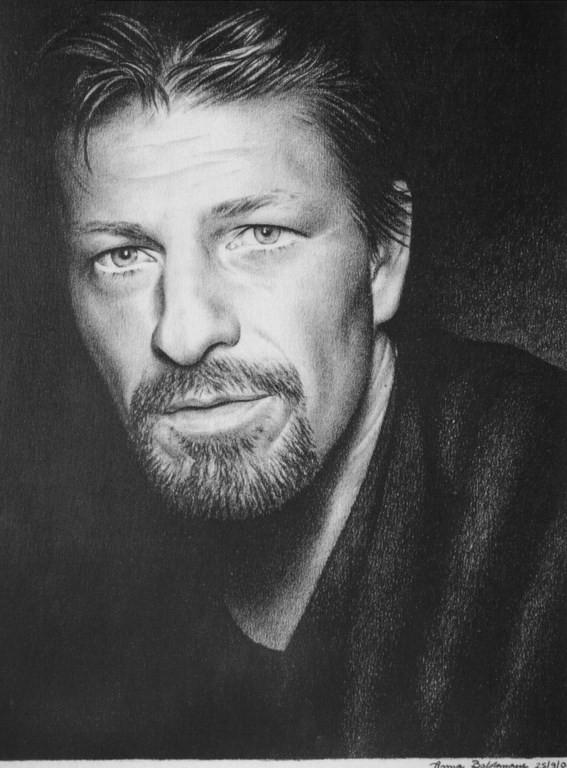Sean Bean Matita su carta  33x48cm.