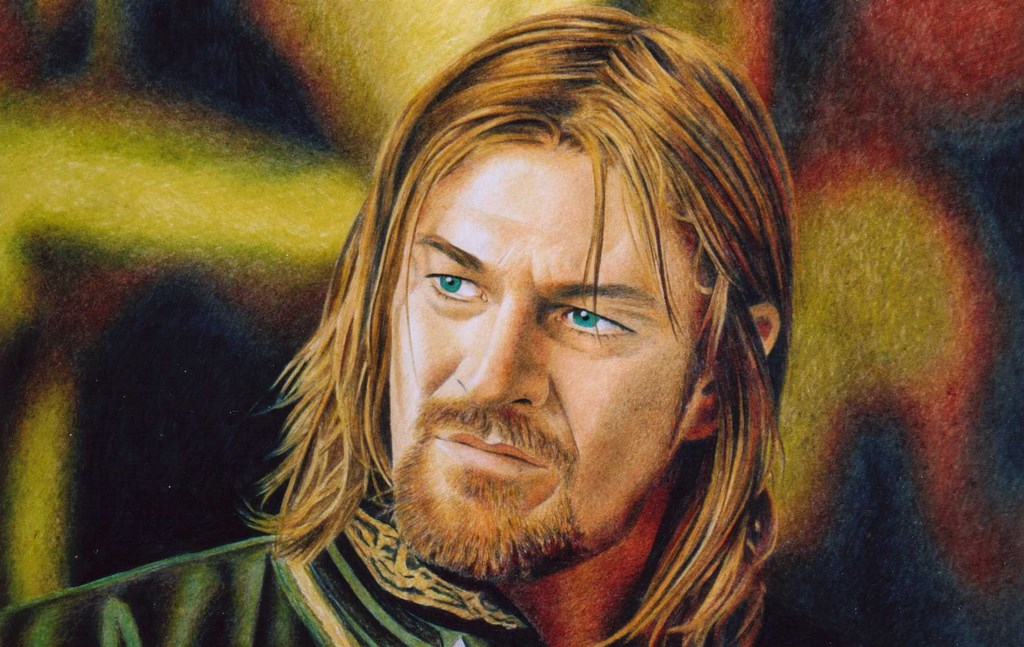 Sean as Boromir Pastello su carta 33x48cm.