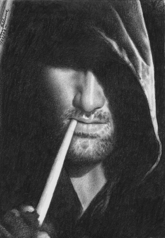 Viggo as Aragorn 2 Matita su carta 30x20cm.